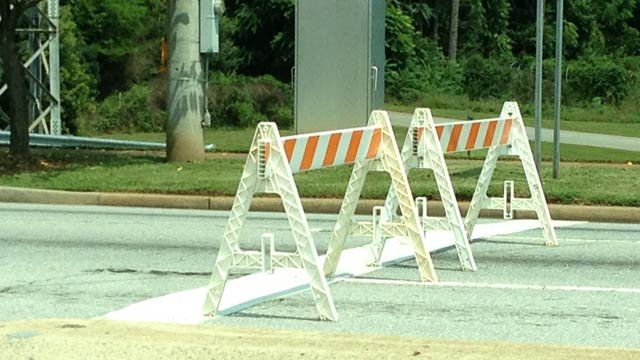Gas leak on Pine St, Spartanburg (Aug. 23, 2013/FOX Carolina)