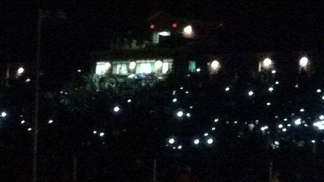 The lights went out during the already delayed Pickens at Easley game Friday. (Aug. 23, 2013/FOX Carolina)
