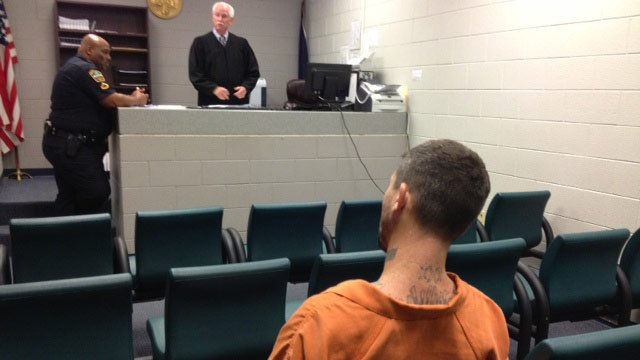Hollingsworth at his bond hearing.(Aug. 26, 2013/FOX Carolina)