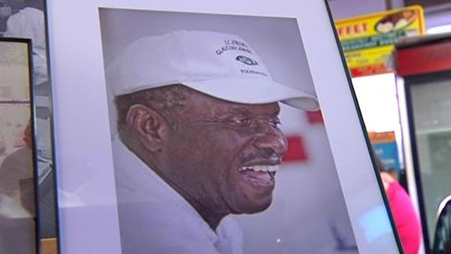 A photo of J.C. Stroble is on display in his memory at The Beacon. (Aug. 27, 2013/FOX Carolina)