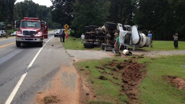 Scene of the accident. (Aug. 28, 2013/FOX Carolina)