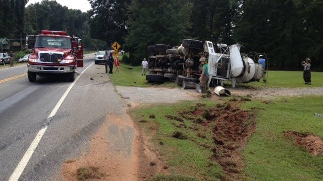Scene of the accident. (Aug. 28, 2013/FOX Carolina)