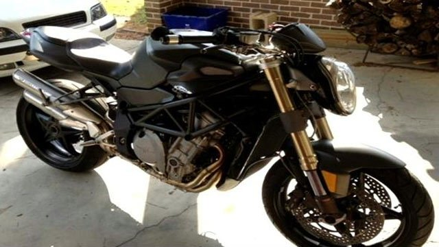 A photo of Sabean's missing MV Agusta Brutale. (Source: Roy Sabean)