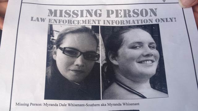 Missing poster for Myranda Southern. (Aug. 23, 2013/FOX Carolina)