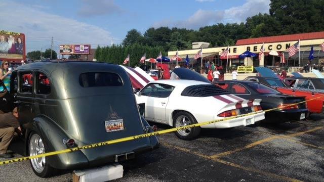 Classic cars at The Beacon on Labor Day. (Sept. 2, 2013/FOX Carolina)