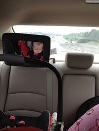Stella sleeps through most of her car rides!