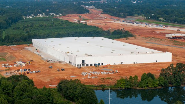 Construction of the BMW's new export facility near the South Carolina Inland Port. (Source: BMW)