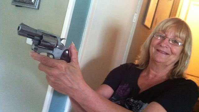 Vicky Roberts held off a burglary suspect with her gun. (Sept. 5, 2013/FOX Carolina)