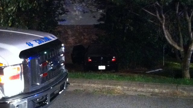 The car crashed into a building at the Cliffwood Terrace Apartments on Edwards Street. (Sept. 6, 2013/FOX Carolina)