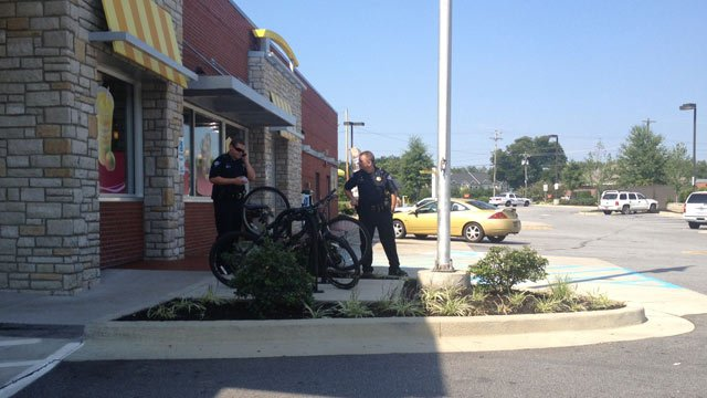 Police respond to the McDonalds on Rutherford St. (Sept. 8, 2013/FOX Carolina)