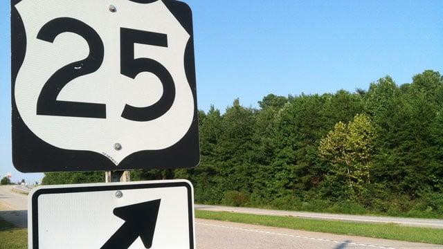 Troopers said the crash happened along U.S. 25 in Travelers Rest. (Sept. 8, 2013/FOX Carolina)