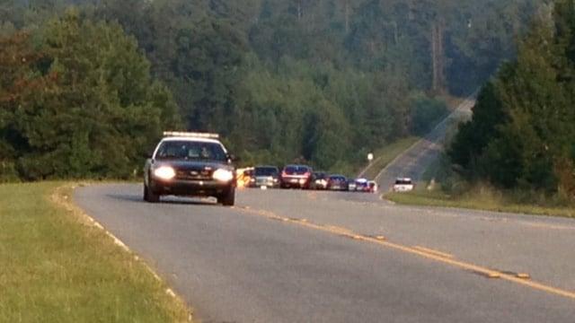 Deputies investigate a death along New Cut Road and Wingo Corp. Drive in Spartanburg. (Sept. 10, 2013/FOX Carolina)