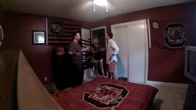 A screen grab of the video when Sean sees his room for the 1st time. (Source: Ryan Bailey/YouTube)