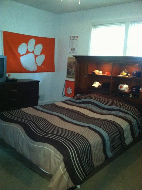 What Sean's room looks like following the prank makeover. (Sept. 10, 2013/FOX Carolina)