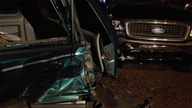 Part of the wreckage after a crash on Marsh Creek Drive. (Sept. 9, 2013/FOX Carolina)