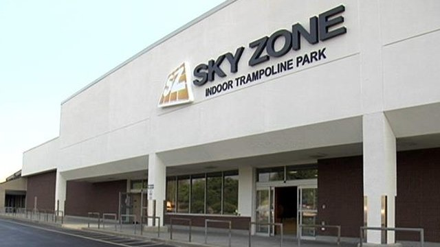 Sky Zone Greenville is located on Laurens Road. (Sept. 10, 2013/FOX Carolina)