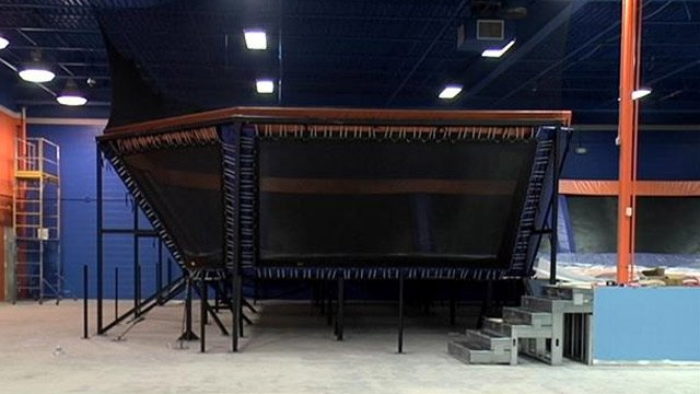 One of the trampolines inside Sky Zone Greenville. (Sept. 10, 2013/FOX Carolina)