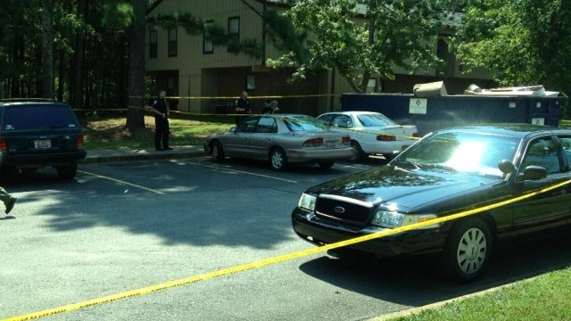 Deputies have evacuated and blocked off some of the Meadow Run apartment buildings after the shooting. (Sept. 11, 2013/FOX Carolina)