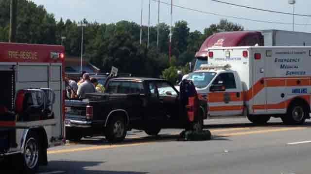Scene of the accident. (Sept. 11, 2013 FOX Carolina)