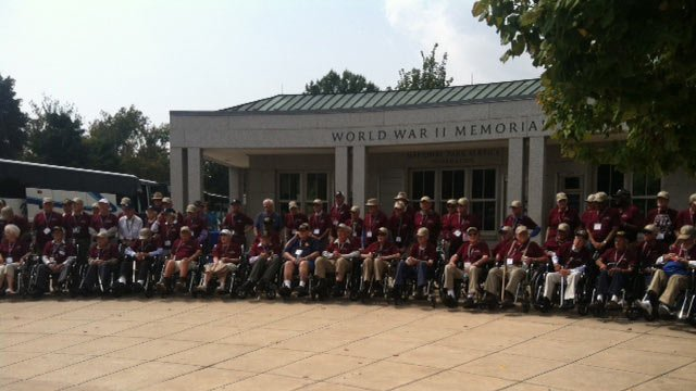A group photo of the veterans at their memorial. (Sept. 12, 2013/FOX Carolina)