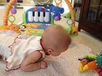 Stella working hard at tummy time!