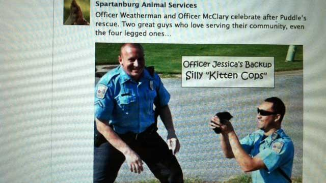 Spartanburg Animal Services documents the kitten rescue.