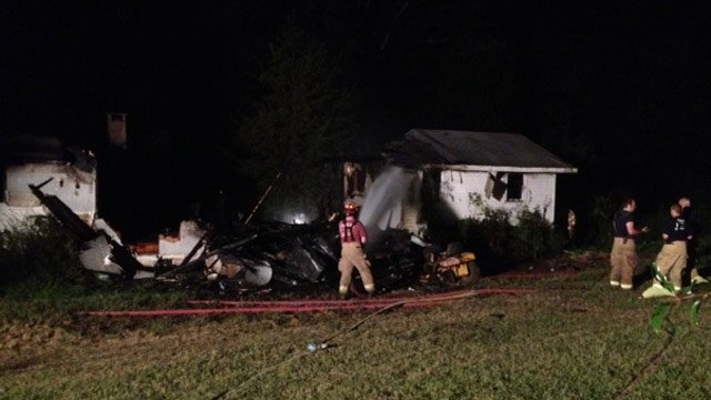 The fire-destroyed home in Easley. (Sept. 18, 2013/FOX Carolina)