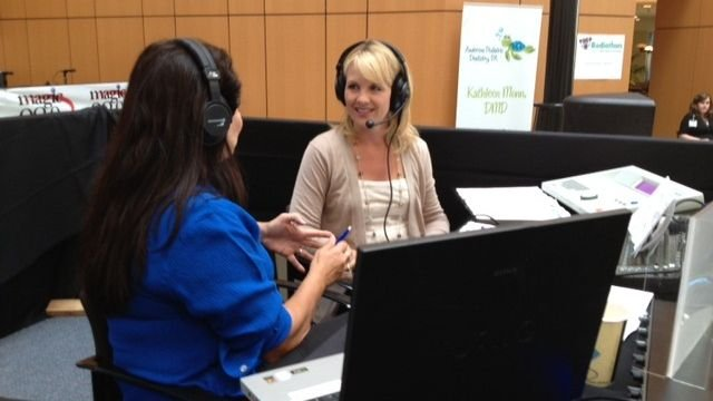 FOX Carolina's Diana Watson and B93.7's Heidi Aiken at the radiothon. (FOX Carolina/Sept. 19, 2013)