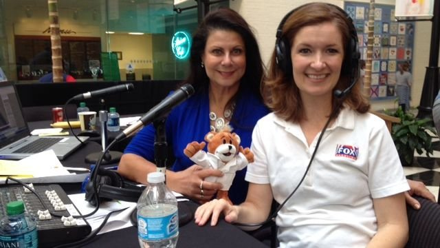 FOX Carolina's Kendra Kent and B93.7's Heidi Aiken at the radiothon. (FOX Carolina/September 20, 2013)