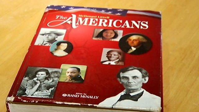 The textbook causing the Second Amendment controversy. (Sept. 19, 2013/FOX Carolina)