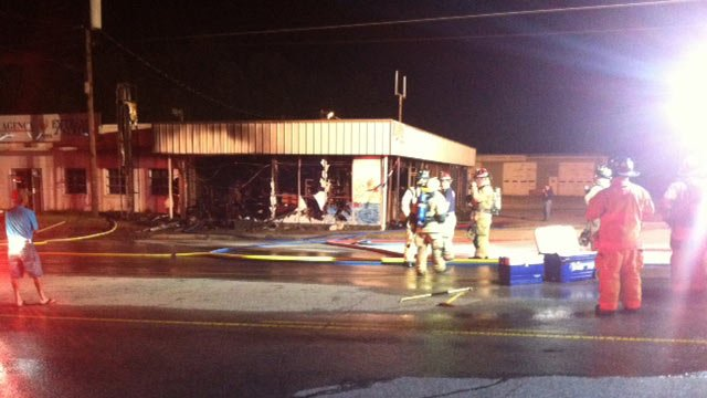 The fire-damaged store. (Sept. 13, 2013/FOX Carolina)