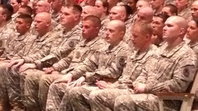 The North Carolina National Guard's 211th Military Police Company prepares for deployment to Afghanistan.