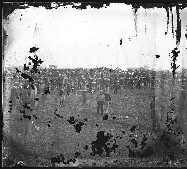 Dedication ceremonies at the Soldiers' National cemetery, Gettysburg, PA. (Source: Library of Congress)