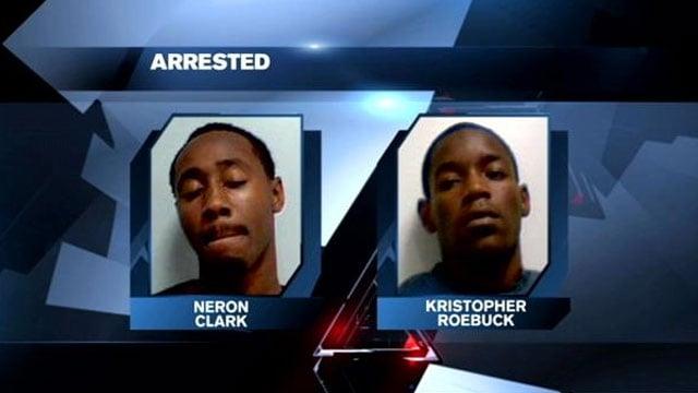 Neron Clark and Kristopher Roebuck. (Source: Clemson Police Dept.)