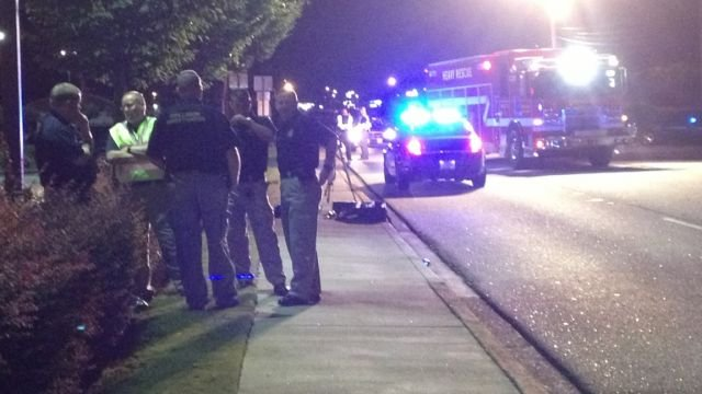 Emergency crews respond to the fatal wreck along NE Main St. (Sept. 26, 2013/FOX Carolina)