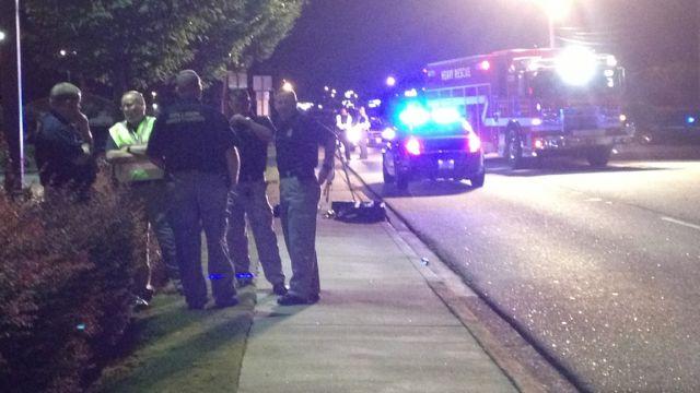 Emergency crews respond to the fatal wreck along NE Main St. (Sept. 26, 2013/FOX Carolina)