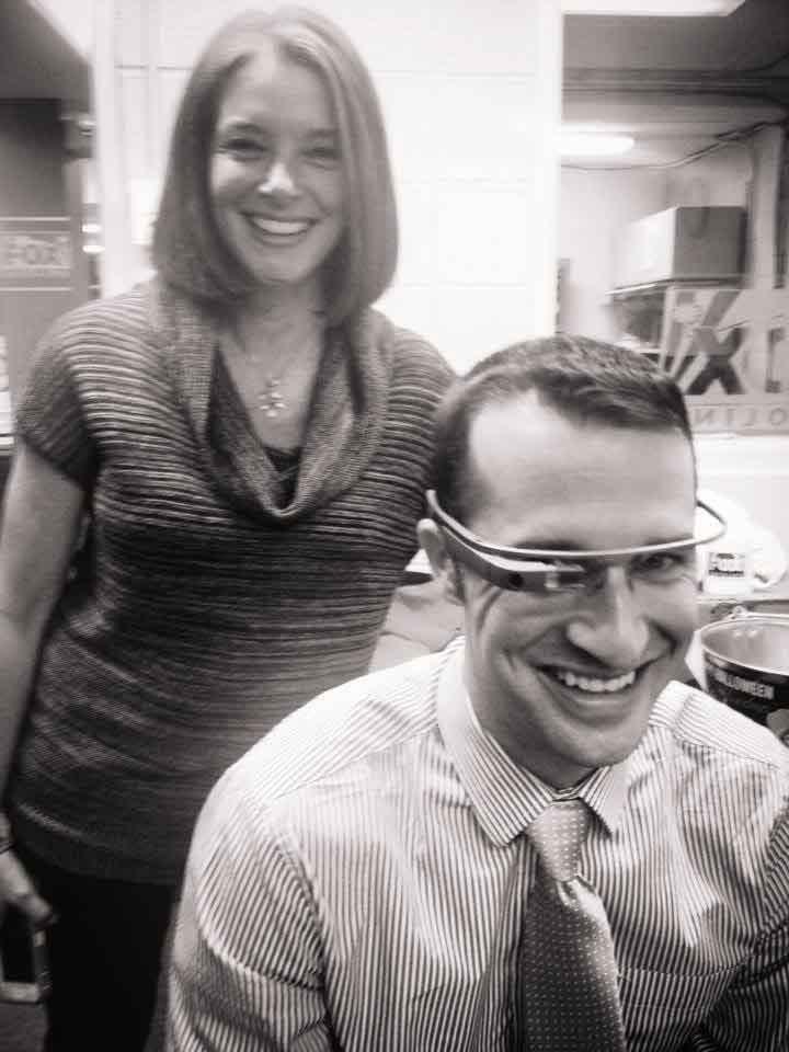 Cody Alcorn trying out Google Glass. (Sept. 30, 2013/FOX Carolina)