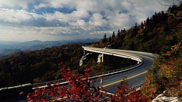 The Linn Cove Viaduct on the Blue Ridge Parkway. (File/Associated Press)