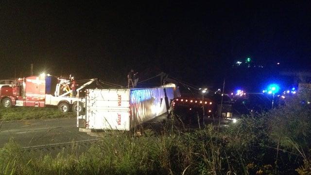 Scene of the accident. (Oct. 3, 2013/FOX Carolina)