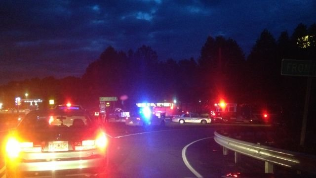 Troopers and police had part of the road blocked near the crash. (Oct. 8, 2013/FOX Carolina)
