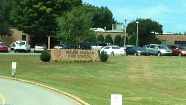 Boiling Springs High School was locked down briefly on Tuesday. (Oct. 8, 2013/FOX Carolina)