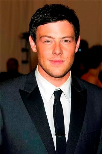 (AP Photo/Charles Sykes, File). FILE - In this May 7, 2012 file photo, Cory Monteith arrives at the Metropolitan Museum of Art Costume Institute gala benefit, celebrating Elsa Schiaparelli and Miuccia Prada in New York.