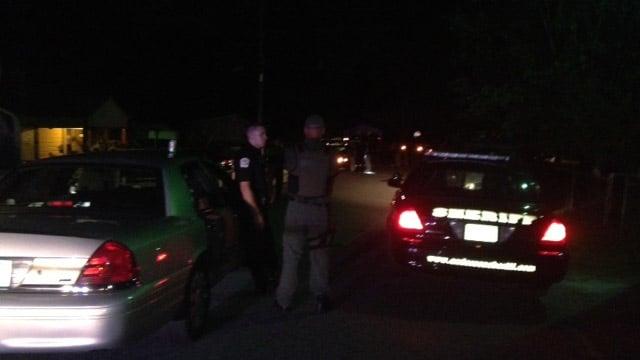 Deputies respond to Drake Circle where the shooting happened. (Oct. 14, 2013/FOX Carolina)