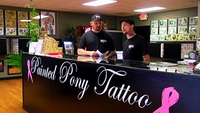 Painted Pony Tattoo parlor in Anderson. (Oct. 14, 2013/FOX Carolina)