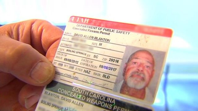Examples of Utah and South Carolina CWP permits. (File/FOX Carolina)