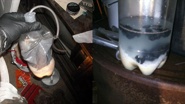 """The """"shake-and-bake"""" meth lab found in Westminster. (Source: Oconee Co. Sheriff's Office)"""