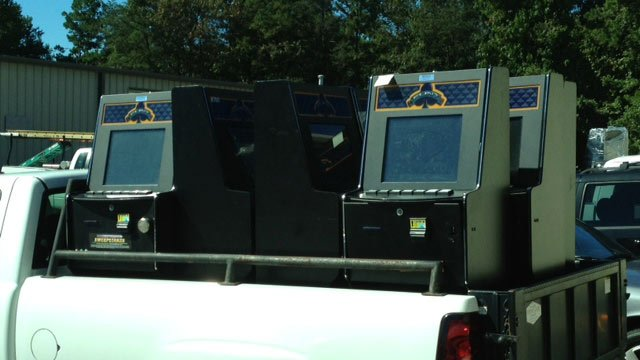 Some of the machines removed from the business. (Oct. 9, 2013/FOX Carolina)