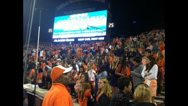 Tiger fans cheer on Clemson. (FOX Carolina)
