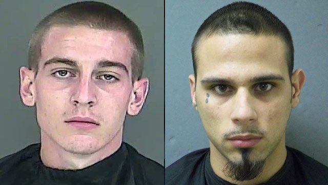 Shawn Johnson (L) and Roger Rowland. (Source: Anderson Police Dept.)
