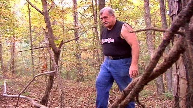Timothy Jones walks through Wompus Woods. (File/FOX Carolina)